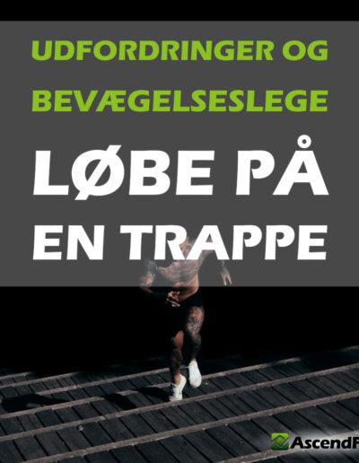 motionist der løber på en trappe